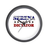 SERENA for dictator Wall Clock