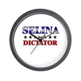 SELINA for dictator Wall Clock
