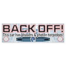 Phasers StarshipModeler.com Bumper Bumper Sticker