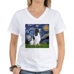 Starry / Eng Springer Women's V-Neck T-Shirt
