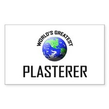 World's Greatest PLASTERER Rectangle Decal