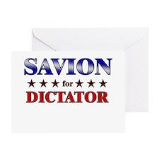 SAVION for dictator Greeting Card