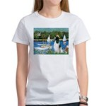 Sailboats / Eng Springer Women's T-Shirt