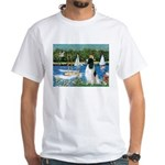 Sailboats / Eng Springer White T-Shirt