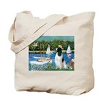 Sailboats / Eng Springer Tote Bag