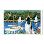 Sailboats / Eng Springer Sticker (Rectangle)