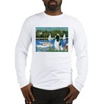 Sailboats / Eng Springer Long Sleeve T-Shirt