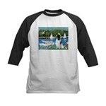 Sailboats / Eng Springer Kids Baseball Jersey