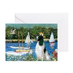 Sailboats / Eng Springer Greeting Cards (Pk of 20)