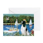 Sailboats / Eng Springer Greeting Card
