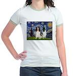 Starry / 2 Eng Springe Jr. Ringer T-Shirt