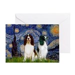 Starry / 2 Eng Springe Greeting Card