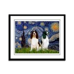 Starry / 2 Eng Springe Framed Panel Print