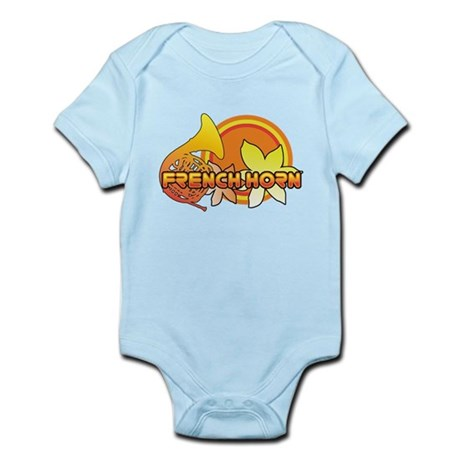 Retro French Horn Infant Bodysuit