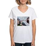 Creation / French Bull Women's V-Neck T-Shirt