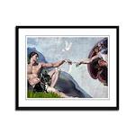 Creation / French Bull Framed Panel Print
