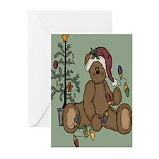Christmas Teddy Greeting Cards (Pk of 10)