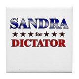 SANDRA for dictator Tile Coaster