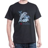 Dolphin Family and Text T-Shirt