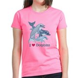 Dolphin Family and Text Tee