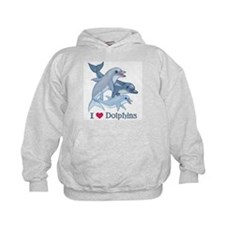 Dolphin Family and Text Hoodie