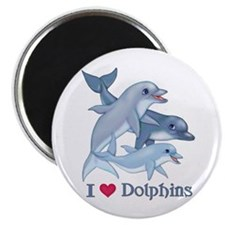 "Dolphin Family and Text 2.25"" Magnet (100 pack)"