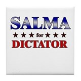 SALMA for dictator Tile Coaster