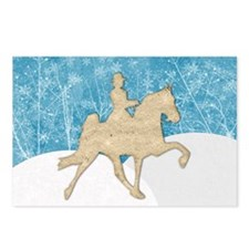 Gaited Horse Snow Postcards (Package of 8)
