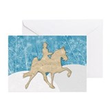 Gaited Horse Snow Greeting Cards (Pk of 20)