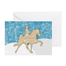 Gaited Horse Snow Greeting Cards (Pk of 10)