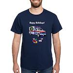 EMS Happy Holidays Greetings Dark T-Shirt