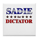 SADIE for dictator Tile Coaster