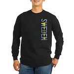 Sweden Stamp Long Sleeve Dark T-Shirt