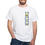 Sweden Stamp White T-Shirt