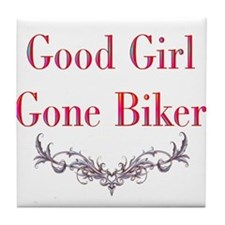 Good Girl Gone Biker-2 Tile Coaster