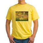 Garden / Fr Bulldog(f) Yellow T-Shirt