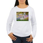 Garden / Fr Bulldog(f) Women's Long Sleeve T-Shirt