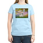 Garden / Fr Bulldog(f) Women's Light T-Shirt