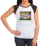 Garden / Fr Bulldog(f) Women's Cap Sleeve T-Shirt