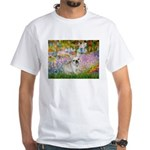 Garden / Fr Bulldog(f) White T-Shirt