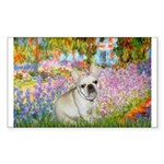 Garden / Fr Bulldog(f) Sticker (Rectangle)