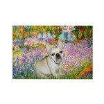 Garden / Fr Bulldog(f) Rectangle Magnet (10 pack)