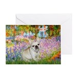 Garden / Fr Bulldog(f) Greeting Card