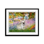 Garden / Fr Bulldog(f) Framed Panel Print