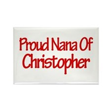 Proud Nana of Christopher Rectangle Magnet (10 pac