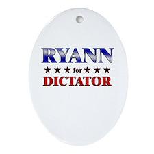 RYANN for dictator Oval Ornament