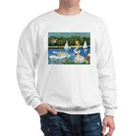 Sailboats / Fr Bulldog(f) Sweatshirt