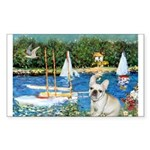 Sailboats / Fr Bulldog(f) Sticker (Rectangle)
