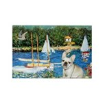 Sailboats / Fr Bulldog(f) Rectangle Magnet (10 pac