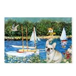 Sailboats / Fr Bulldog(f) Postcards (Package of 8)